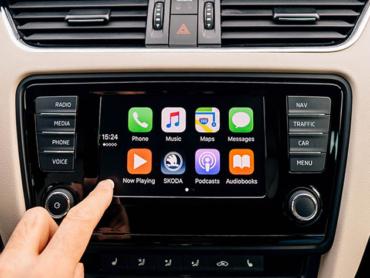 apple carplay head unit main screen