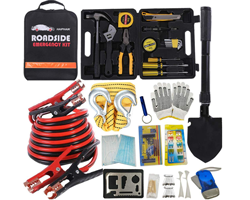 HAIPHAIK Emergency Roadside Kit 124 Pieces